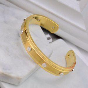 Henri Bendel Smooth Rivet Cuff Bracelet